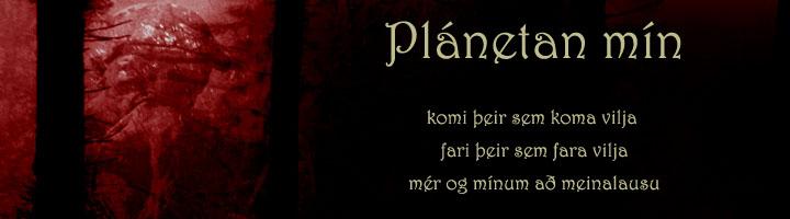 Plánetan mín - Hausmynd